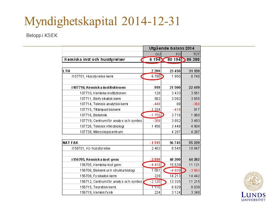 Myndighetskapital 2014-12-31 Belopp i KSEK