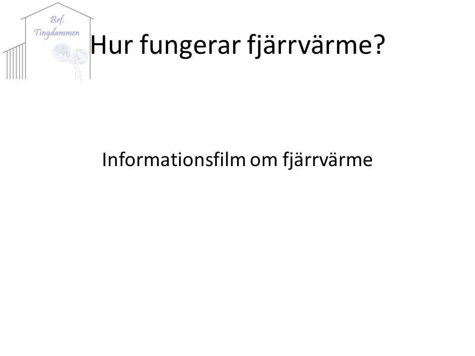 Hur fungerar fjärrvärme Informationsfilm om fjärrvärme