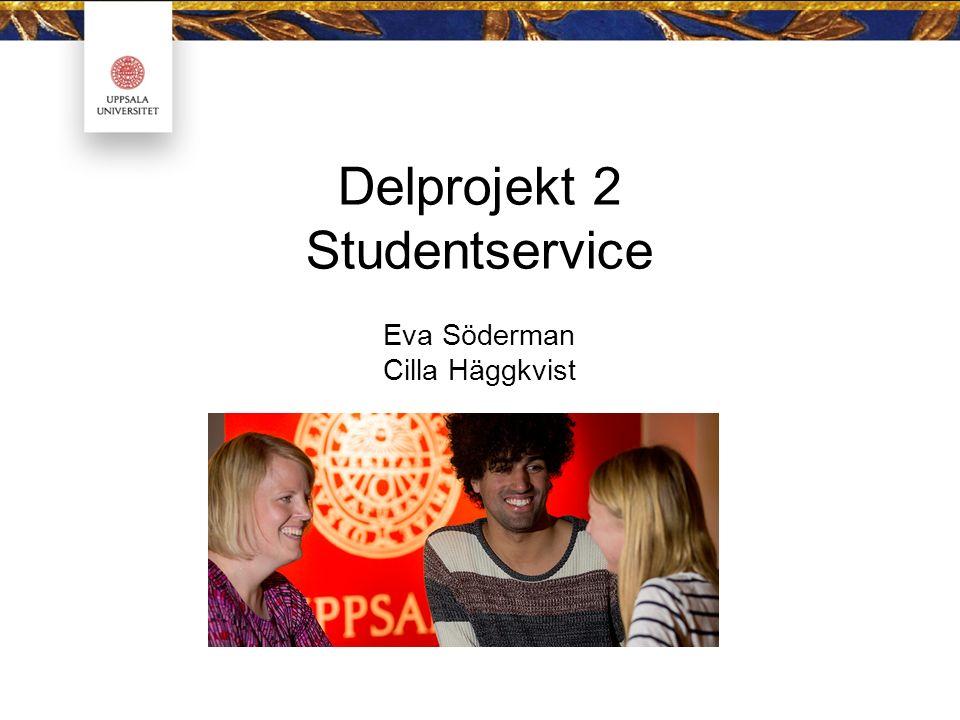 Delprojekt 2 Studentservice Eva Söderman Cilla Häggkvist