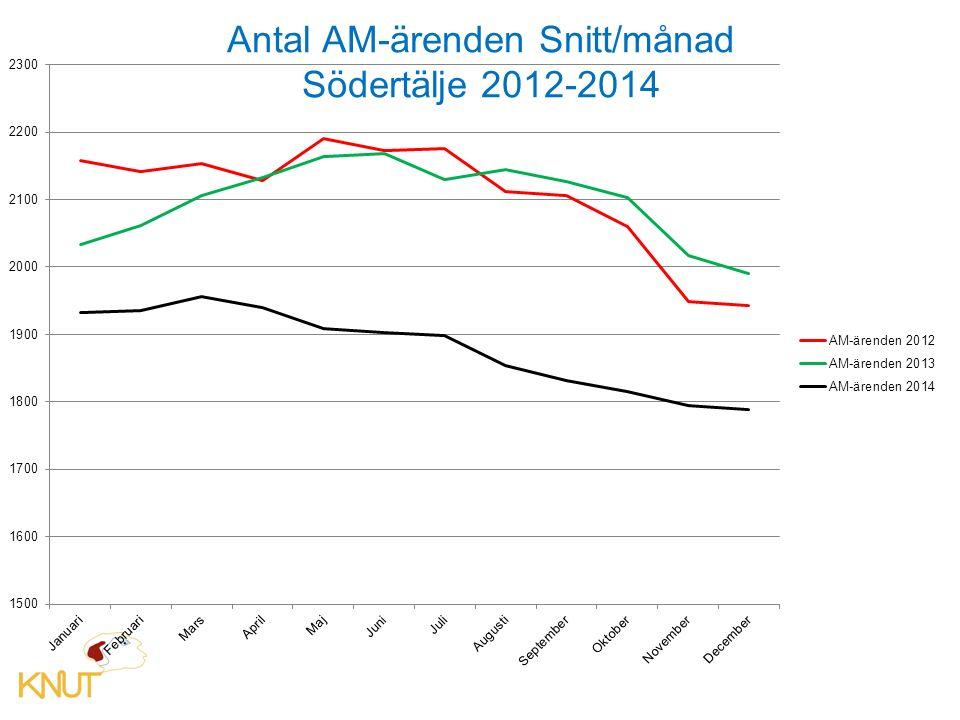 Antal AM-ärenden Snitt/månad Södertälje 2012-2014