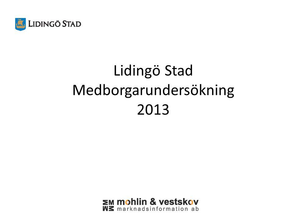 Lidingö Stad Medborgarundersökning 2013