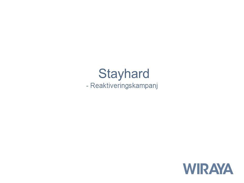 Stayhard - Reaktiveringskampanj
