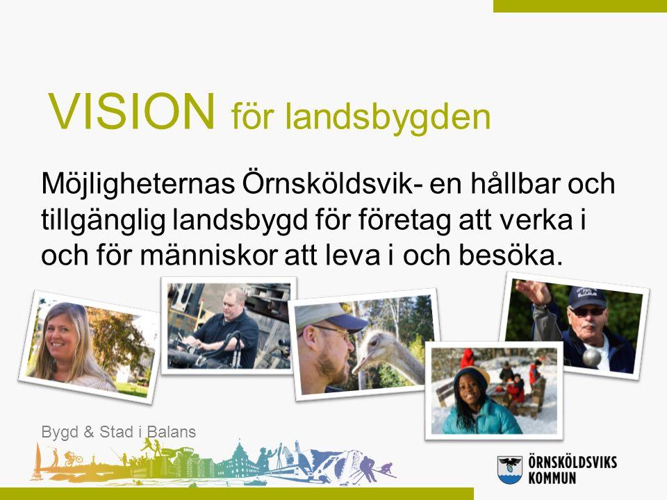 Möjligheternas Örnsköldsvik- en hållbar och tillgänglig landsbygd för företag att verka i och för människor att leva i och besöka. Bygd & Stad i Balan
