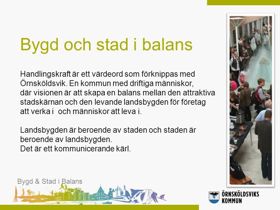 Årets kommun 2012 Bygd & Stad i Balans Motivering: Örnsköldsviks kommun satsar konsekvent på hela kommunens utveckling.