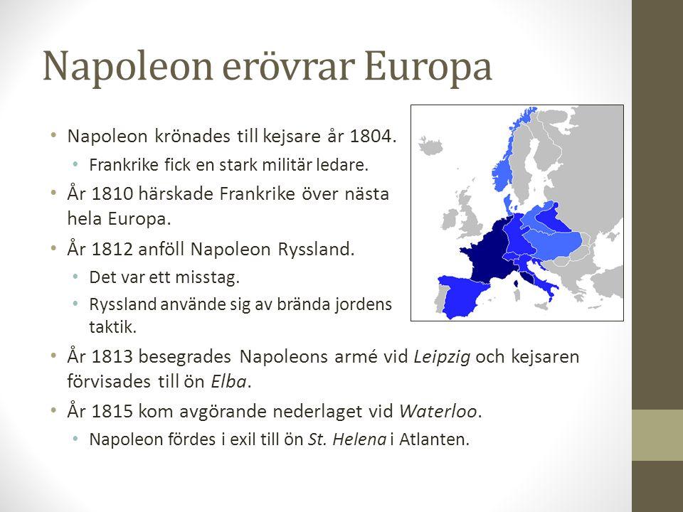 Reformer En ny lagbok – Code Napoleon – utarbetades.