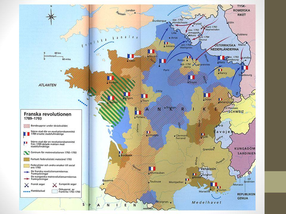 Skärckvåldets tid Konventet blev mer radikal.Ledaren Robespierre fick mer makt i konventet.