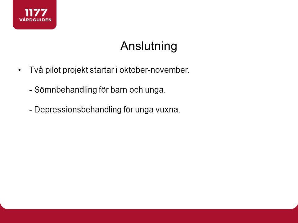 Två pilot projekt startar i oktober-november. - Sömnbehandling för barn och unga.