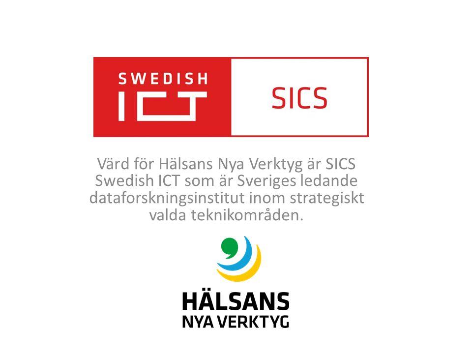 Värd för Hälsans Nya Verktyg är SICS Swedish ICT som är Sveriges ledande dataforskningsinstitut inom strategiskt valda teknikområden.