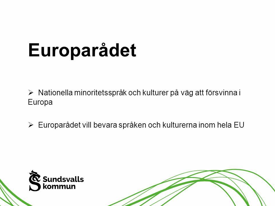 Europarådet  Nationella minoritetsspråk och kulturer på väg att försvinna i Europa  Europarådet vill bevara språken och kulturerna inom hela EU