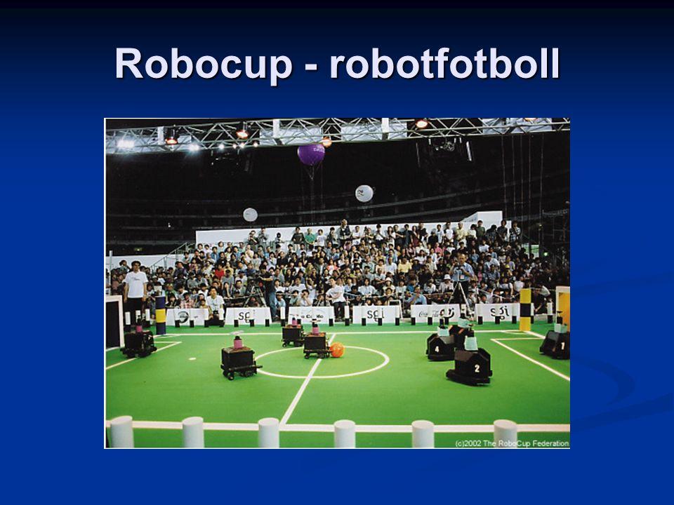 Konstgjord intelligens i Lund Forskningsområden: Forskningsområden: Kollektiv intelligens Kollektiv intelligens Autonoma agenter Autonoma agenter Beskrivbarhet Beskrivbarhet Robotlabb Robotlabb Kheperor Kheperor Aibot (hundar) Aibot (hundar) Kurser: Kurser: Introduktion Introduktion AI för robotar AI för robotar Maskininlärning Maskininlärning (AI för spel- programmering) (AI för spel- programmering) Examensarbete Examensarbete