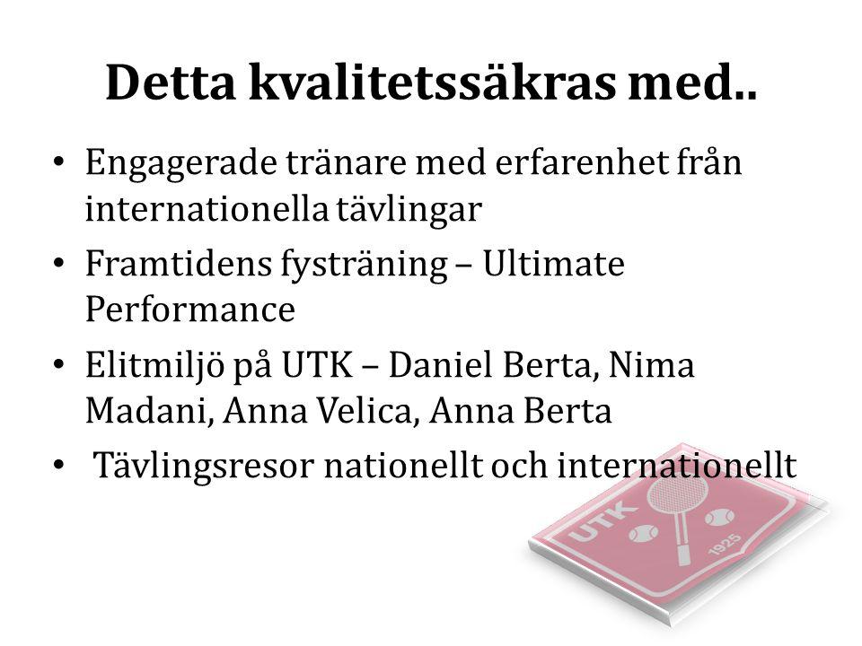 Svenska Tennisförbundets Krav på NIU Uppsala Eleverna ska erbjudas möjlighet till träning utanför skoltid i en elitmiljö utan krav på klubbyte Svar: Ja, varje fredag och lördag erbjuds träning utanför skoltid.