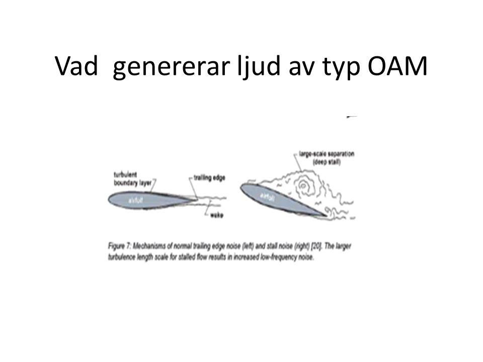 Vad genererar ljud av typ OAM
