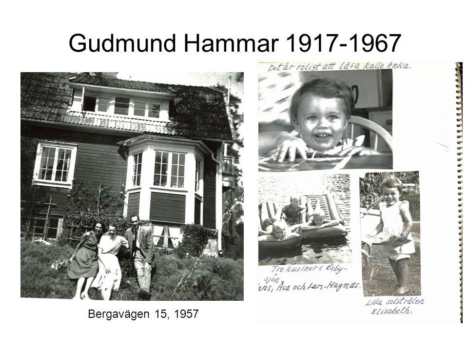 Gudmund Hammar 1917-1967 Bergavägen 15, 1957
