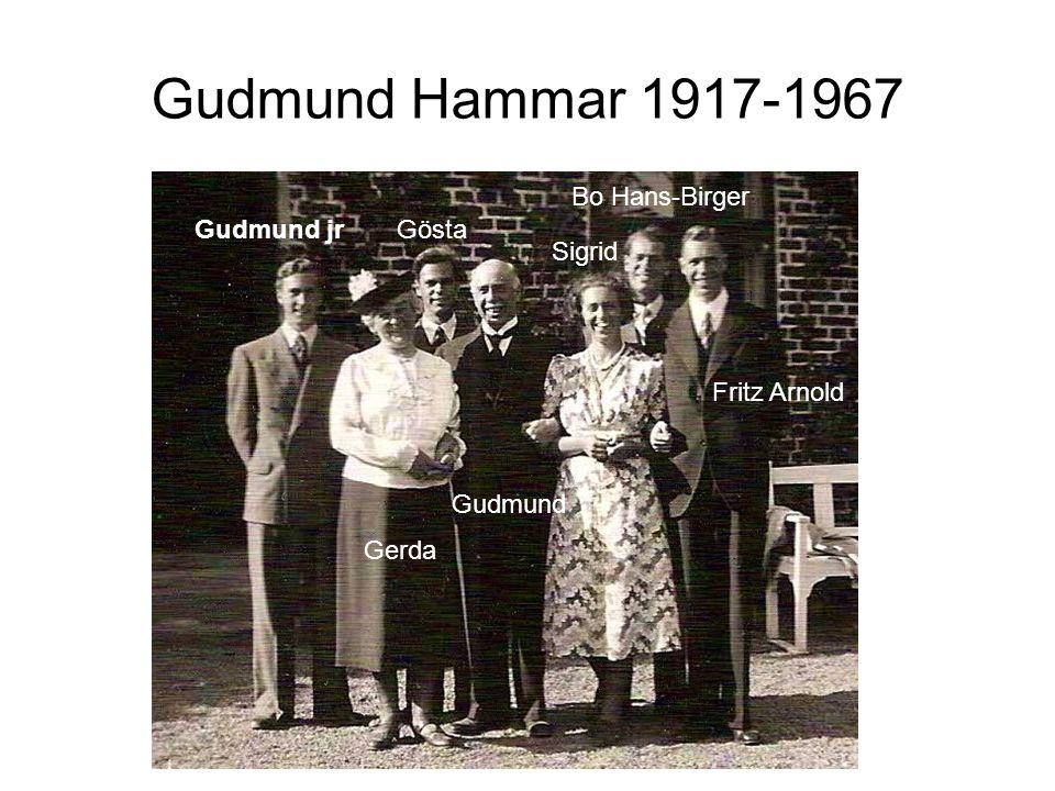 Gudmund jrGösta Sigrid Bo Hans-Birger Fritz Arnold Gerda Gudmund