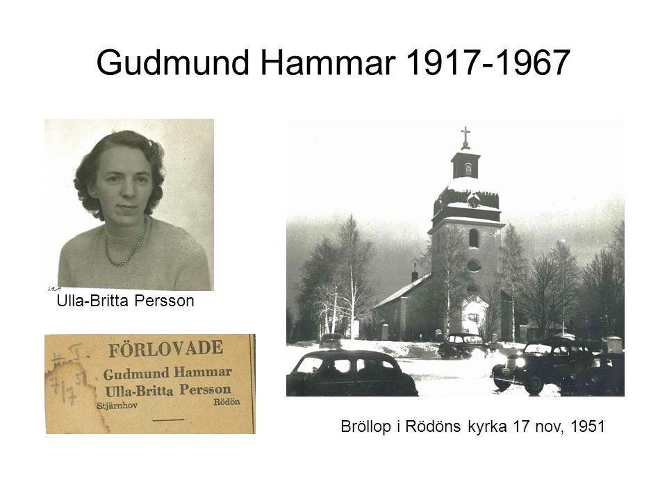 Ulla-Britta Persson Bröllop i Rödöns kyrka 17 nov, 1951