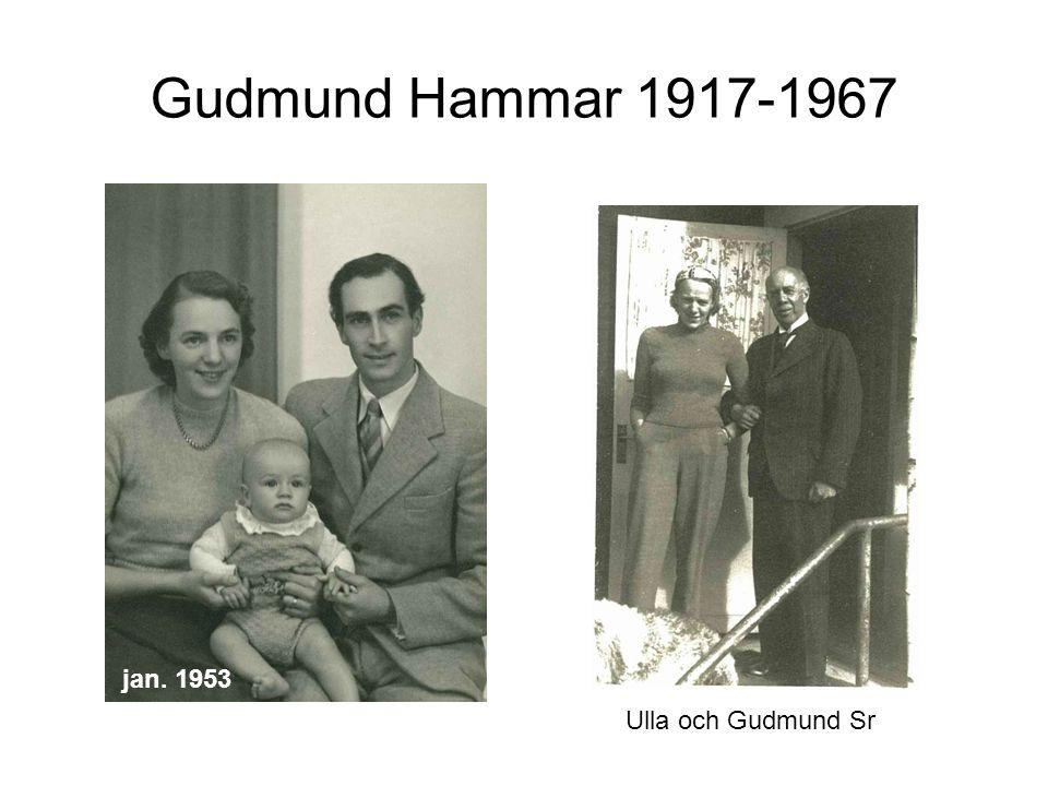 jan. 1953 Gudmund Hammar 1917-1967 Ulla och Gudmund Sr