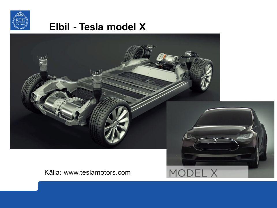 Elbil - Tesla model X Källa: www.teslamotors.com