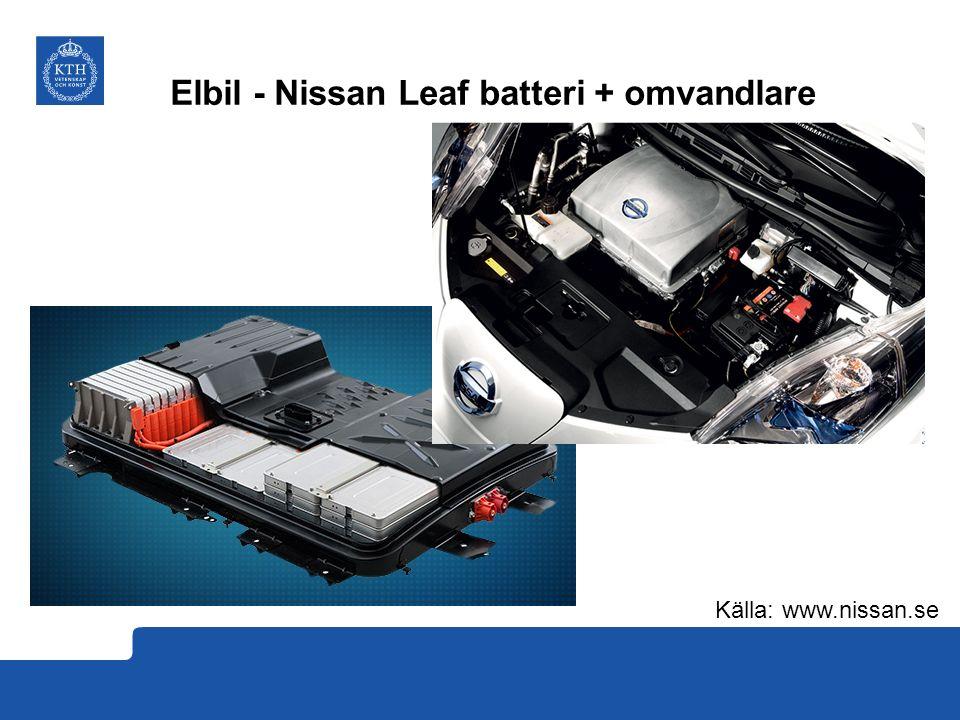 Elbil - Nissan Leaf batteri + omvandlare Källa: www.nissan.se
