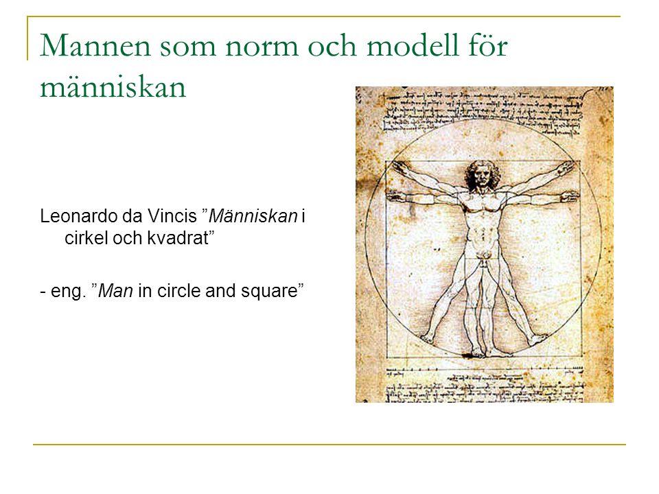 Mannen som norm och modell för människan Leonardo da Vincis Människan i cirkel och kvadrat - eng.