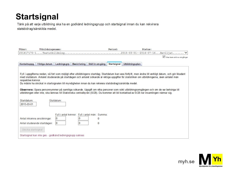 myh.se Startsignal