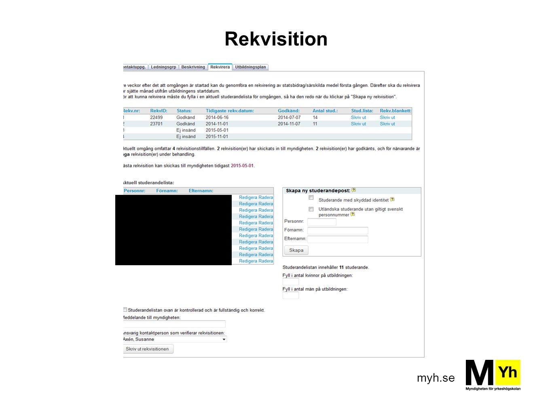 myh.se Rekvisition