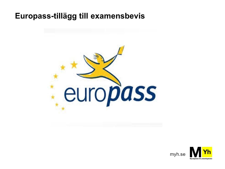 myh.se Europass-tillägg till examensbevis