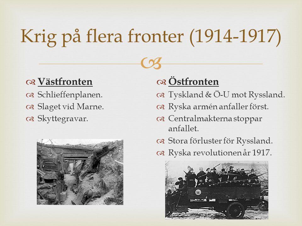   Första världskriget var det första globala kriget.