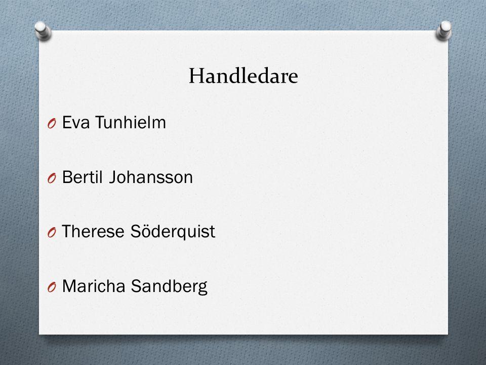 Handledare O Eva Tunhielm O Bertil Johansson O Therese Söderquist O Maricha Sandberg