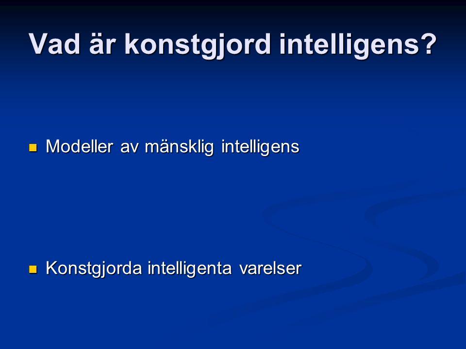 Vad är konstgjord intelligens.