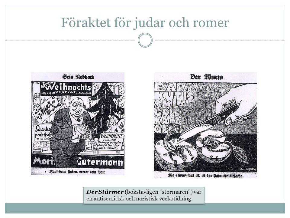 Föraktet för judar och romer Der Stürmer (bokstavligen