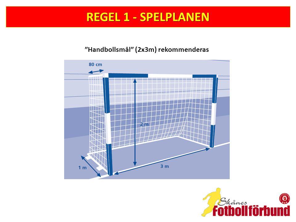 """REGEL 1 - SPELPLANEN """"Handbollsmål"""" (2x3m) rekommenderas"""