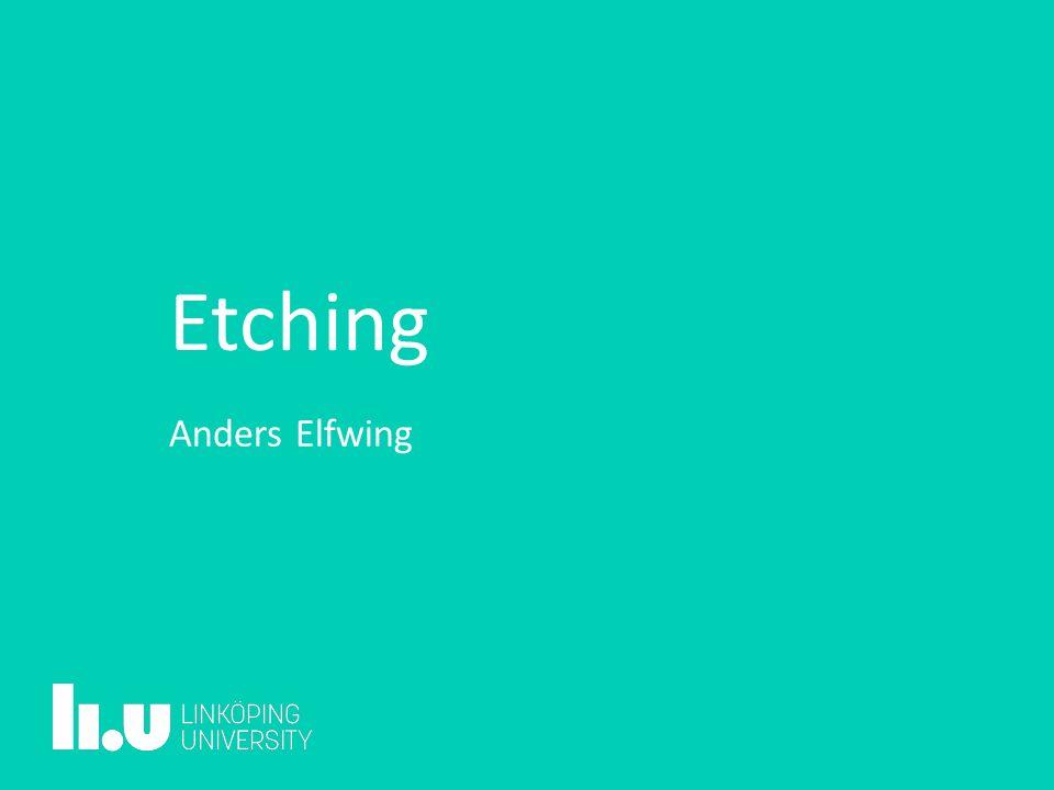 Etching Anders Elfwing