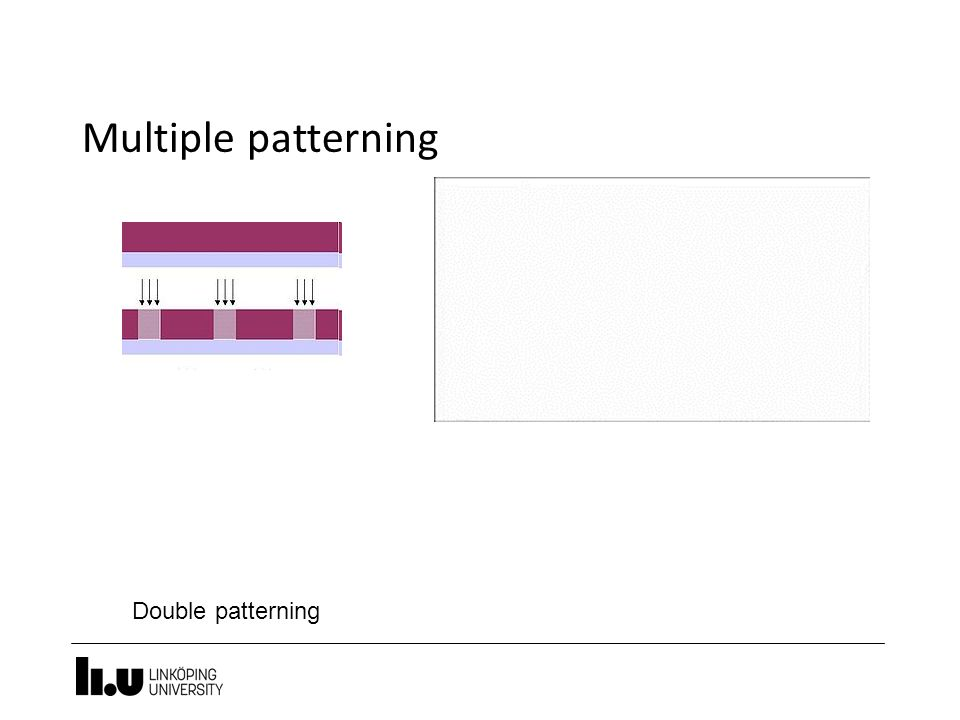Multiple patterning Double patterning