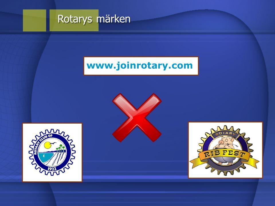 Rotarys märken www.joinrotary.com