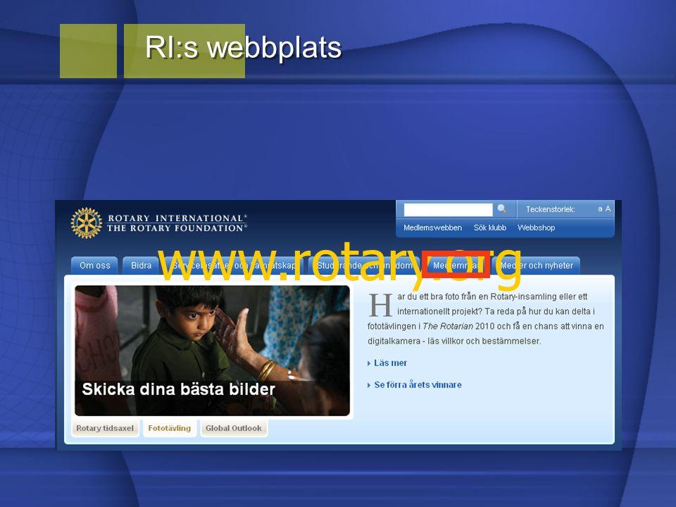 RI:s webbplats www.rotary.org