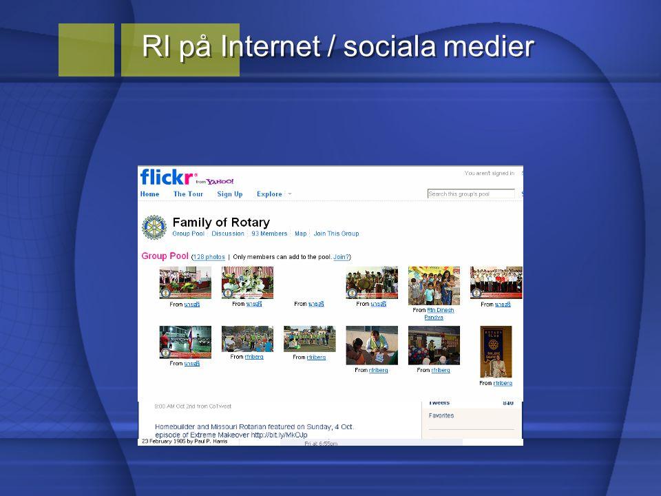RI på Internet / sociala medier