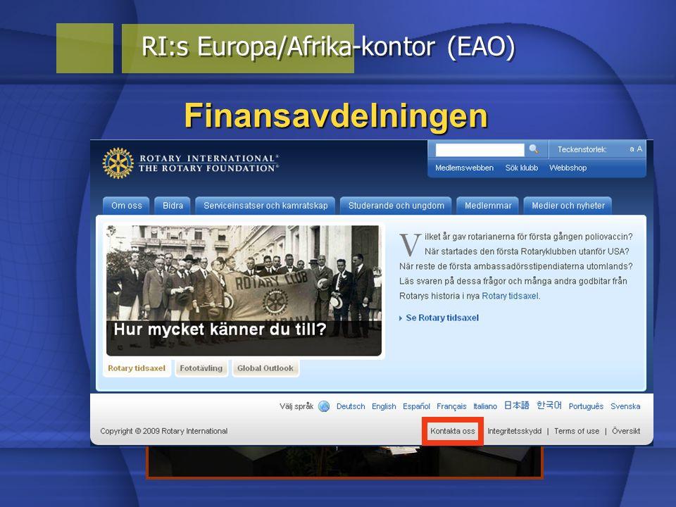 Finansavdelningen RI:s Europa/Afrika-kontor (EAO)
