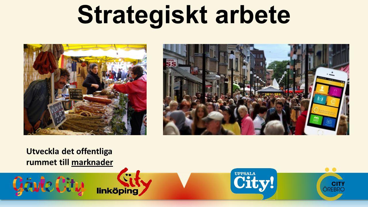 Utveckla det offentliga rummet till marknader Strategiskt arbete