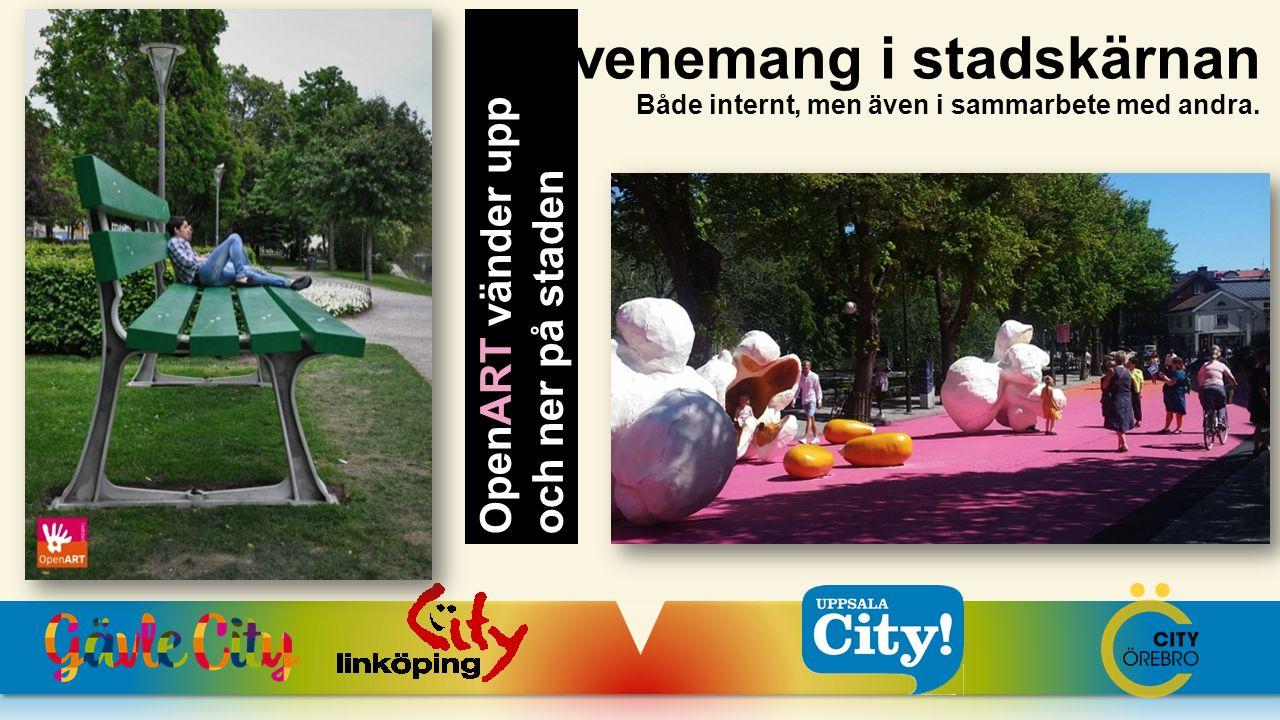 Evenemang i stadskärnan Både internt, men även i sammarbete med andra. OpenART vänder upp och ner på staden