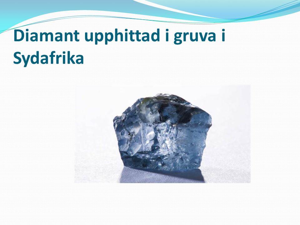 Diamant Varje kolatom binder till fyra andra kolatomer. Diamant är det hårdaste av alla kända mineral. Användningsområde: Smycken Nötningsmedel i borr