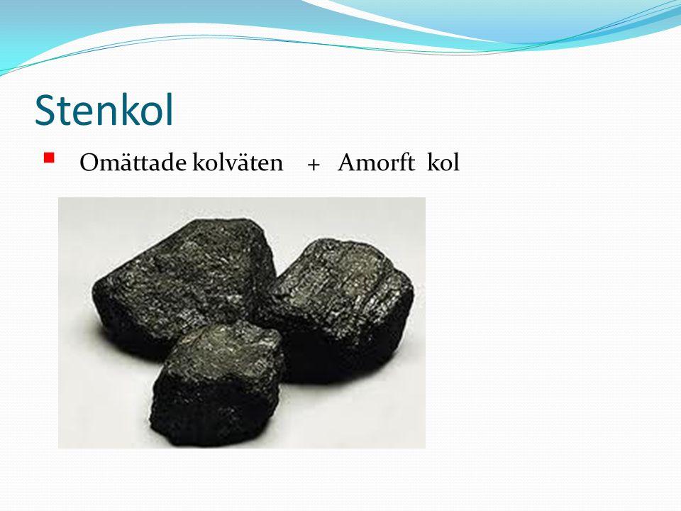 Fossila bränslen stenkol, Olja Naturgas