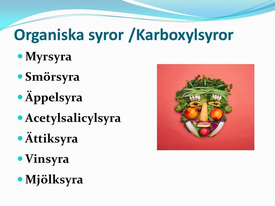 Organiska syror