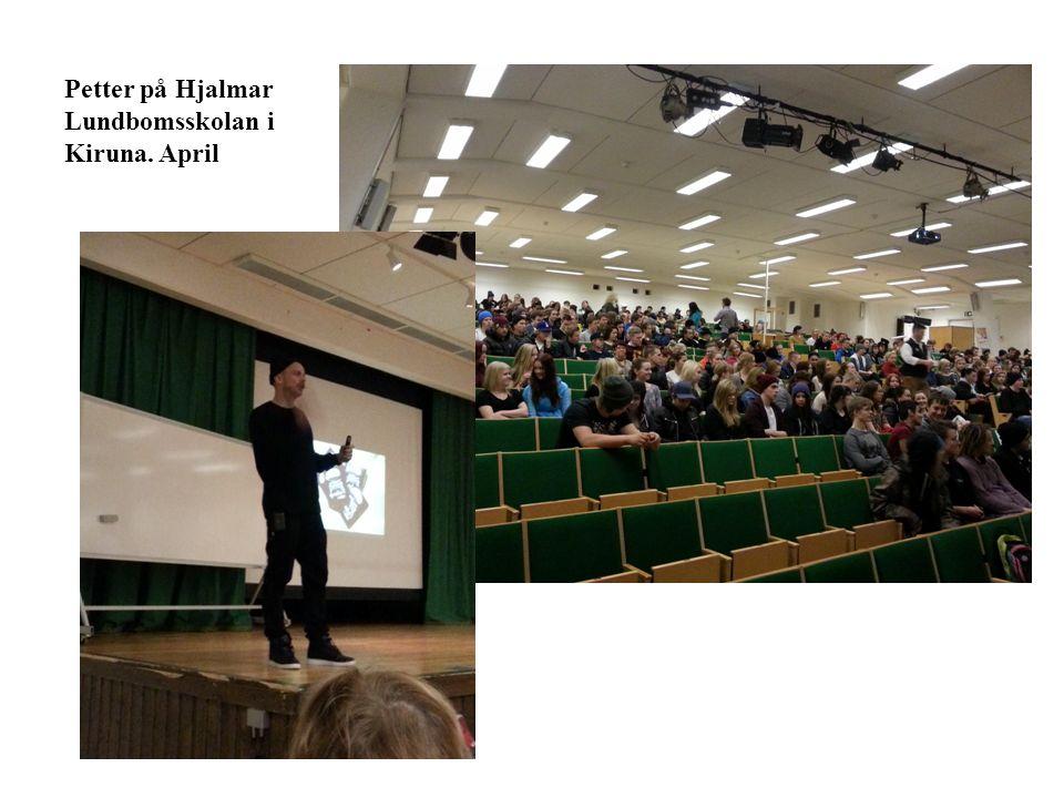 Petter på Hjalmar Lundbomsskolan i Kiruna. April
