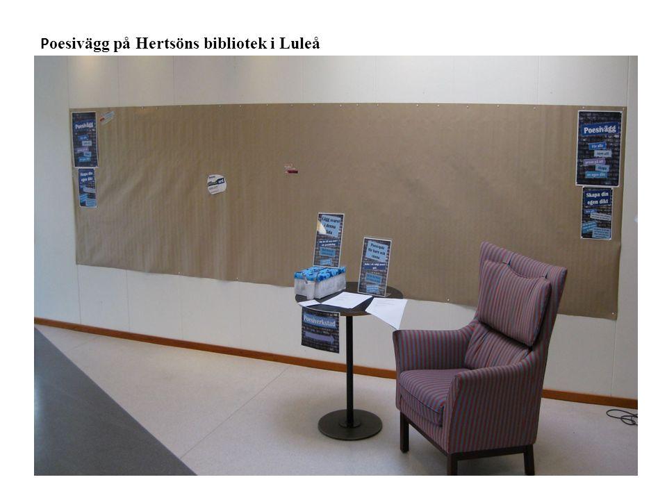 P oesivägg på Hertsöns bibliotek i Luleå