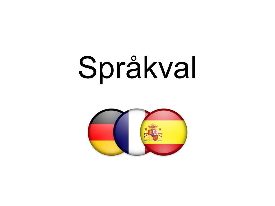 Moderna språk franska, spanska, tyska