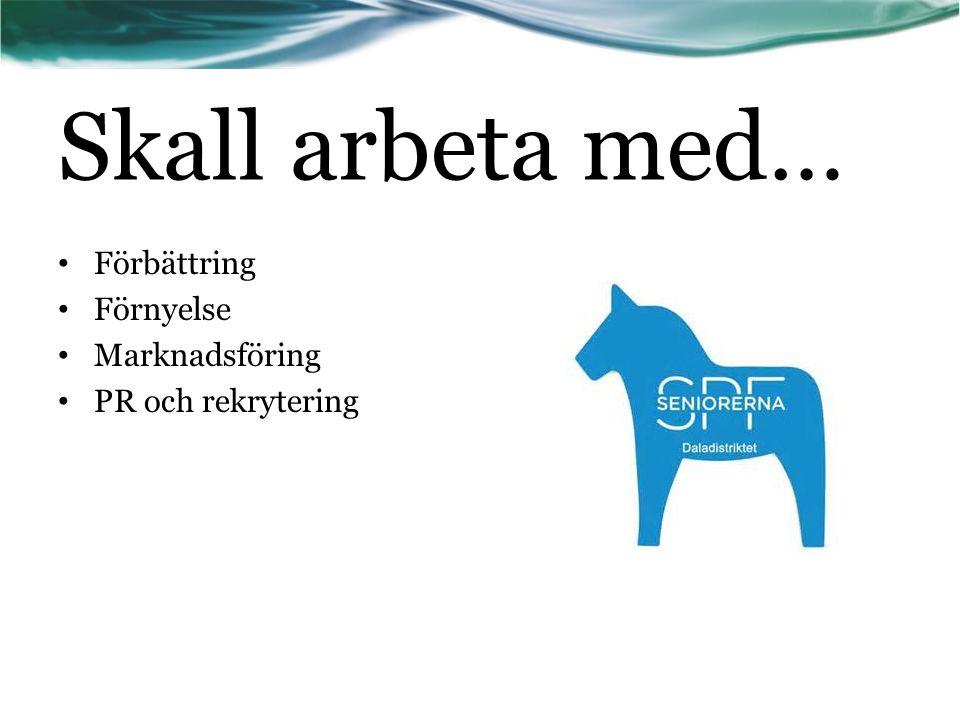 I projektgruppen ingår: Laila Andersson Bo Hertzman Hasse Jonsson Bengt Mauritzson Ingvar Svensson