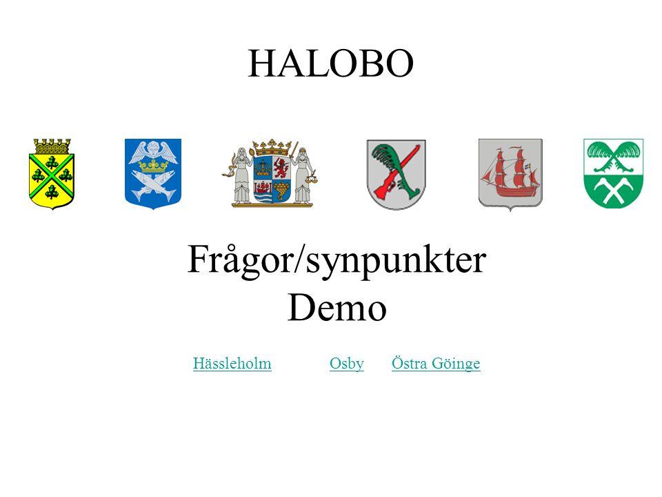 HALOBO Frågor/synpunkter Demo Hässleholm Osby Östra Göinge HässleholmOsbyÖstra Göinge