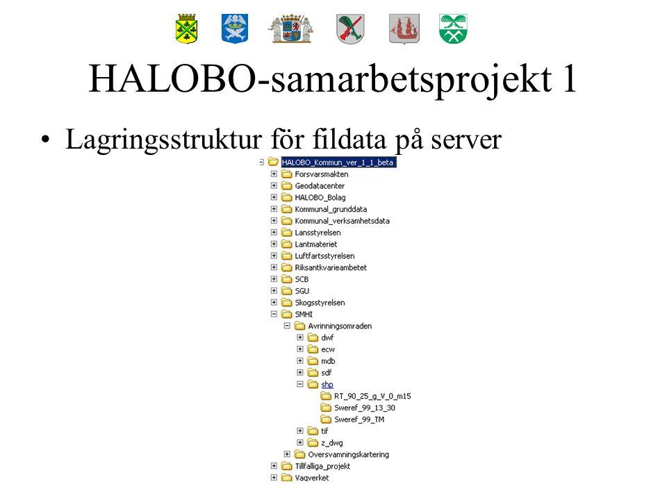 Lagringsstruktur för datakällor i MapGuide Studio HALOBO-samarbetsprojekt 1