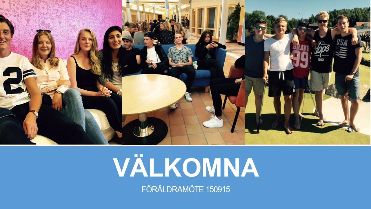 VÄLKOMNA FÖRÄLDRAMÖTE 150915