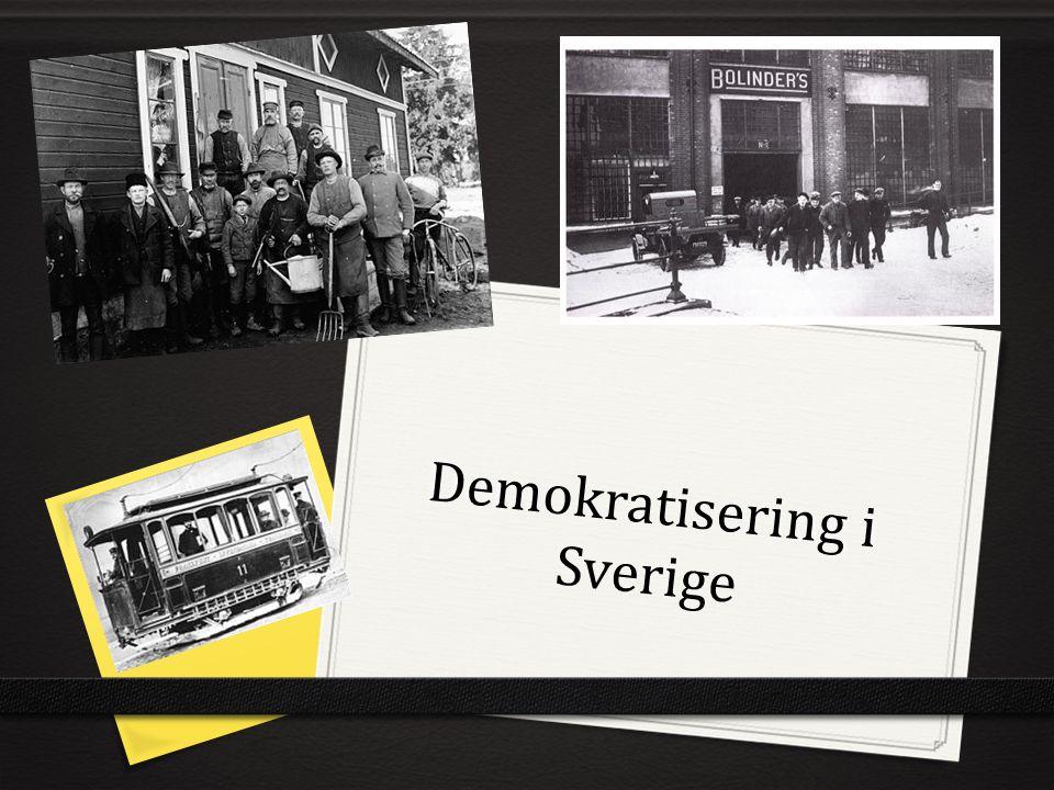 Demokratisering i Sverige